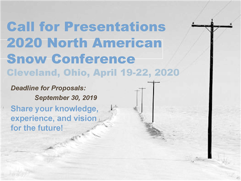 Deadline for proposals: September 30, 2019